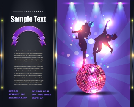 Party Brochure Flyer Template Illustration