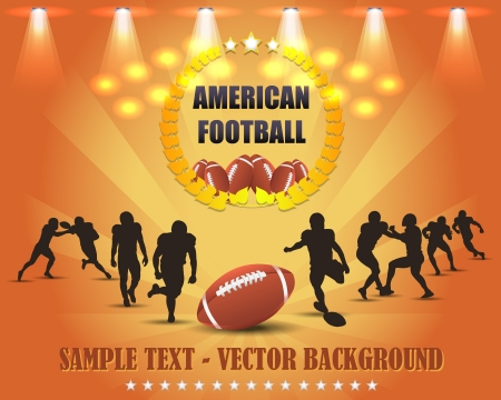 rugby field: American Football Vector Design Illustration