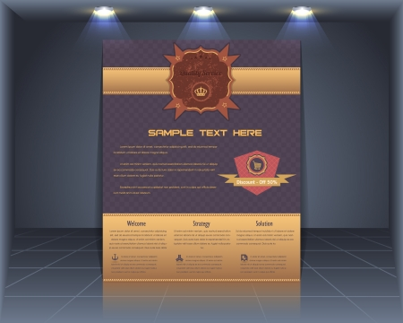 Vintage Style Cover Vector Template