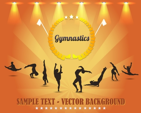 Gymnastics Shield Vector Background Vector