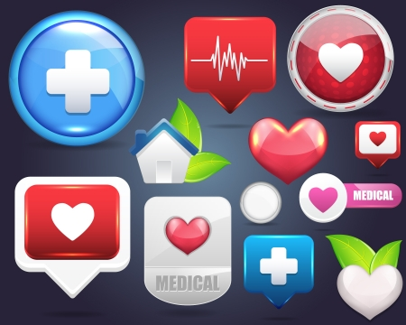 Medical Icon Vector Set  Illustration