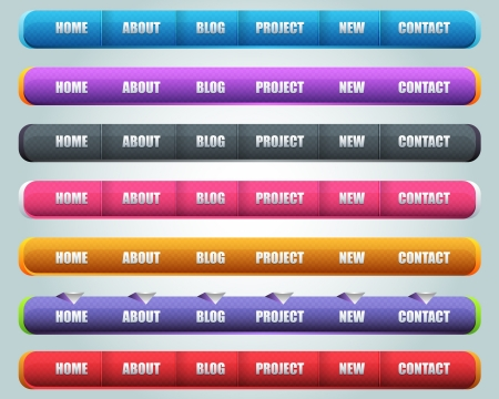 Modern Shiny Lighting Web Elements Header