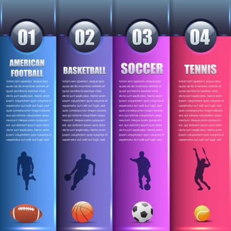 sports form: Vector Sport Sfondo Numero Opzioni Banner Carta Vettoriali