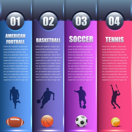 sports backgrounds: Vector Sports Background Number Options Banner   Card