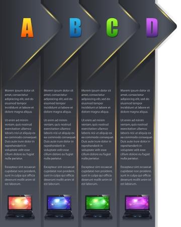 Vector Background Number Options Banner   Card Illustration