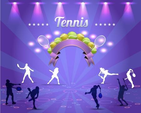 Tennis Shield Vector Design