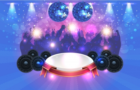 Party Background Design Stock Vector - 16968554