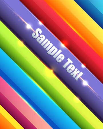 Shiny Multicolored Lines Abstract Background Vector Design