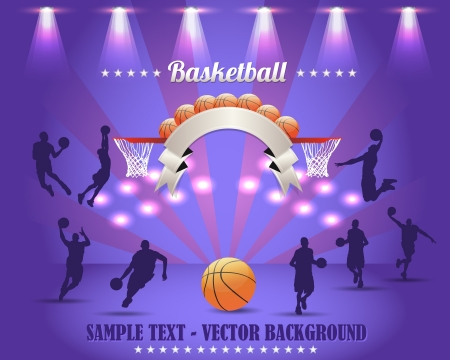 Abstract Background Basketball Vector Design Illustration