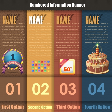 Vector Background Number Options Banner   Card Stock Vector - 16968563