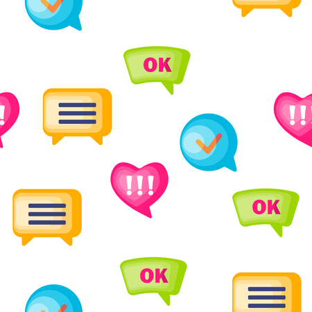 Speech Bubble Icon Seamless Pattern Vector  Chat Dialog Conversation