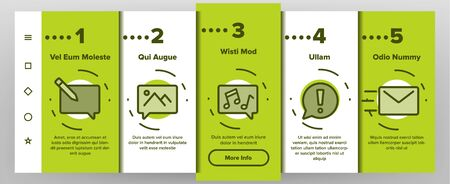 Color Different SMS Message Icons Set Vector Onboarding Mobile App Page Screen. Conversation Service, SMS Message, Notification, Group Chat Assortment Linear Pictograms. Contour Illustrations Stock Illustratie