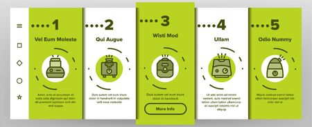 Color Different Humidifier Icons Set Vector Onboarding Mobile App Page Screen. Climatic System Equipment Humidifer Assortment Linear Pictograms. Steam, Humidification, Water Contour Illustrations Illustration