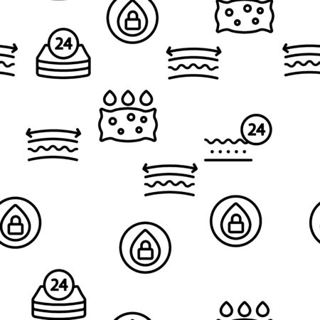 Absorbent, Absorbing Materials Vector Seamless Pattern Contour Illustration