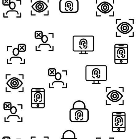 Verification of ID Vector Seamless Pattern Scanning Contour Illustration