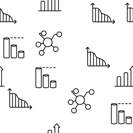 Analysing Data Vector Seamless Pattern Contour Illustration