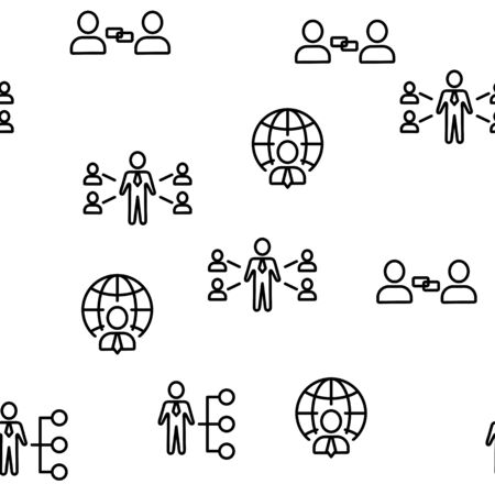 Business Affiliate Element Vector. Seamless Pattern Illustration