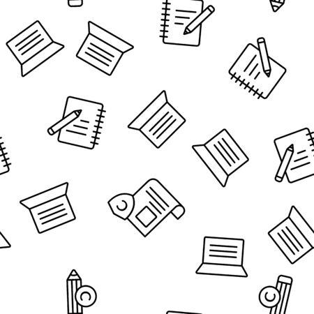 Copywriting and Blogging Vector Seamless Pattern Illustration