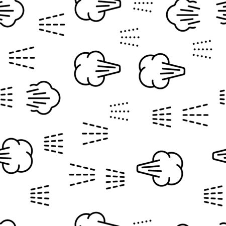 Water, Steam, Liquid Spray Vector Seamless Pattern Thin Line Illustration