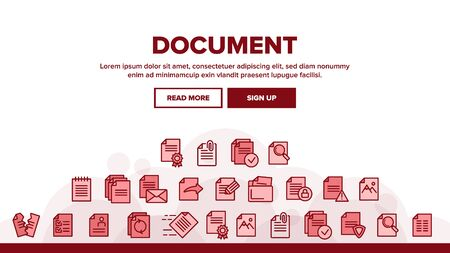 Digital, Computer Documents, File Landing Web Page Header Banner Template Vector. Sending Work Files. Deleting Documentation, Protecting Information. Office Archive, Info Storage Illustration