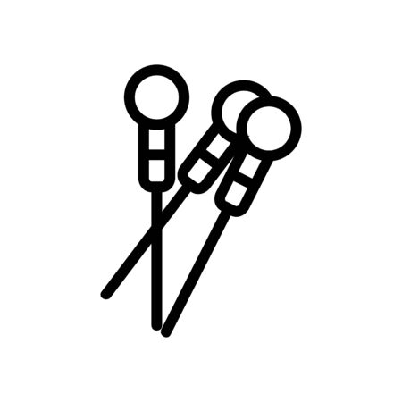 acupuncture icon vector. Thin line sign. Isolated contour symbol illustration Illustration