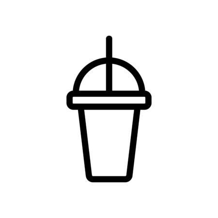 cocktail in a glass icon vector. Thin line sign. Isolated contour symbol illustration