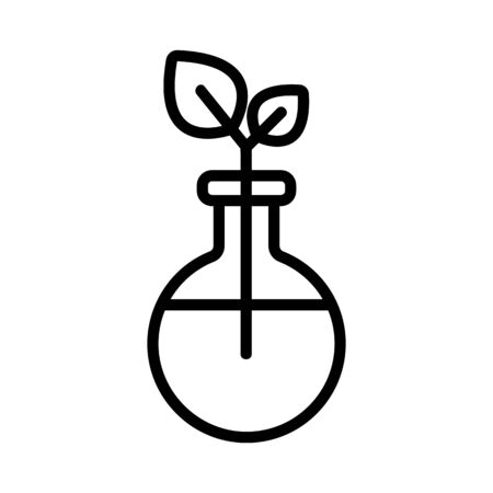 Environmental medicine is an icon vector. Thin line sign. Isolated contour symbol illustration