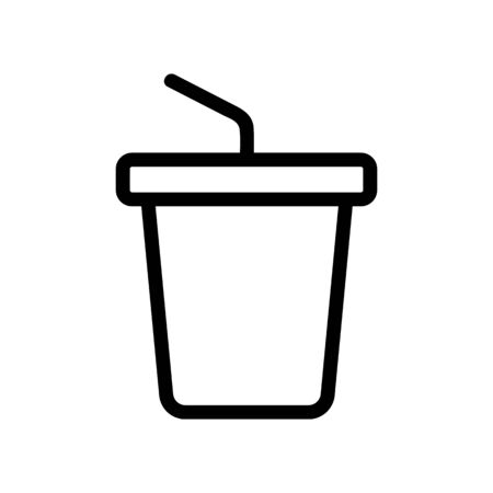drink in a glass icon vector. Thin line sign. Isolated contour symbol illustration