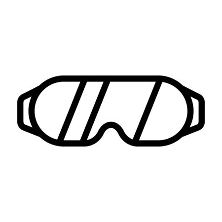 Glasses sports icon vector. Thin line sign. Isolated contour symbol illustration Ilustrace