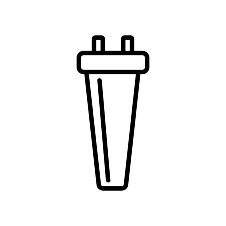 The drinking water filter is an icon vector. Thin line sign. Isolated contour symbol illustration