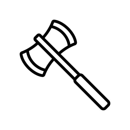axe warrior icon vector. Thin line sign. Isolated contour symbol illustration