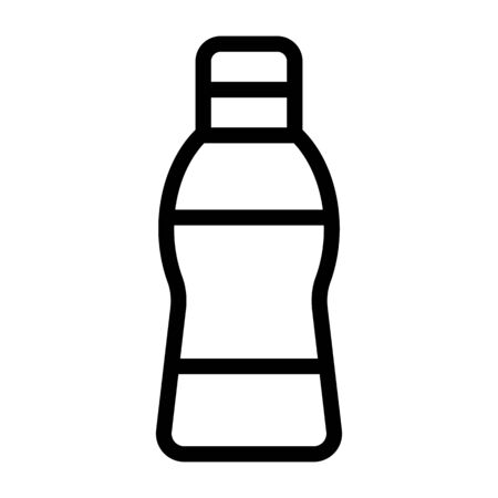 bottle plastic vector icon. Thin line sign. Isolated contour symbol illustration Illustration