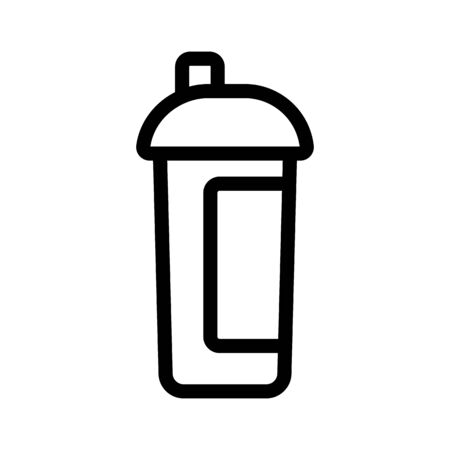 Energy drink icon vector. Thin line sign. Isolated contour symbol illustration