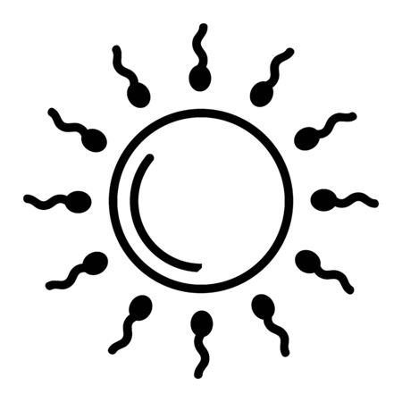Sperm and egg icon vector. Thin line sign. Isolated contour symbol illustration