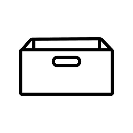 Big box icon vector. Thin line sign. Isolated contour symbol illustration