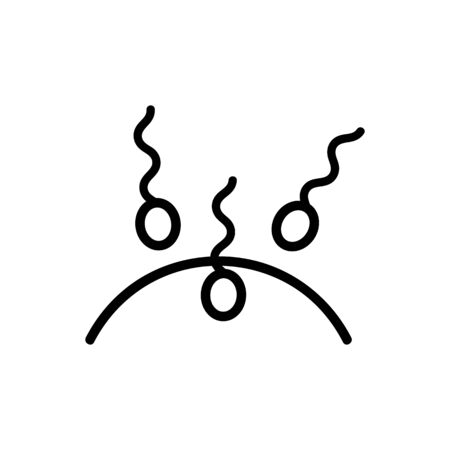 artificial insemination icon vector. Thin line sign. Isolated contour symbol illustration