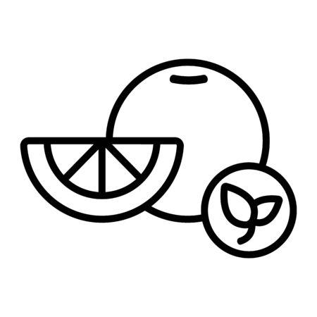 Natural orange vector icon. Thin line sign. Isolated contour symbol illustration