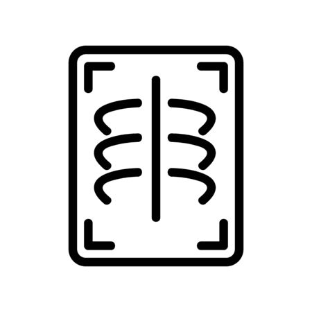 X-ray chest icon vector. Thin line sign. Isolated contour symbol illustration Illustration