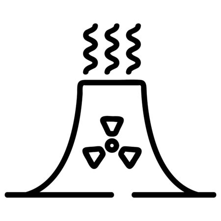 radiation contamination icon vector. Thin line sign. Isolated contour symbol illustration