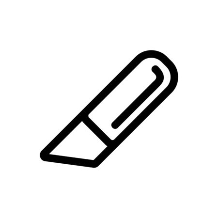Knife icon vector. Thin line sign. Isolated contour symbol illustration