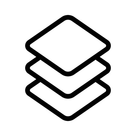 layers in the graphic editor icon vector. Thin line sign. Isolated contour symbol illustration Ilustrace