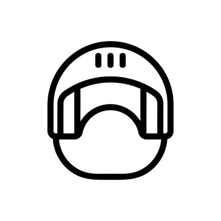 helmet icon vector. Thin line sign. Isolated contour symbol illustration