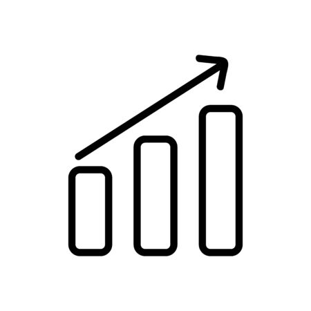 the growing trend is an icon vector. Thin line sign. Isolated contour symbol illustration Illusztráció