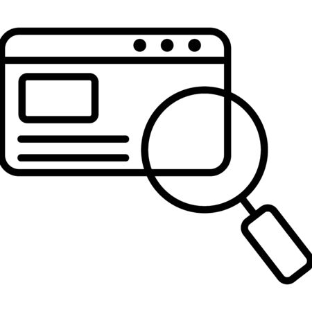 Search for the vector icon file. Thin line sign. Isolated contour symbol illustration