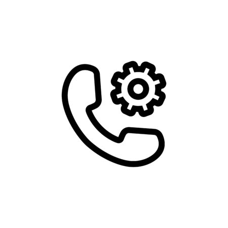 Set up the phone icon vector. A thin line sign. Isolated contour symbol illustration