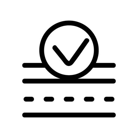Dry material icon vector. Thin line sign. Isolated contour symbol illustration