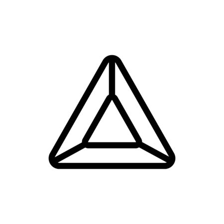 Amber icon vector. A thin line sign. Isolated contour symbol illustration