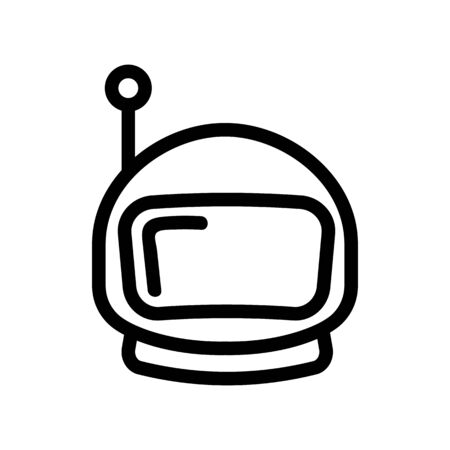 Spacesuit helmet icon vector. A thin line sign. Isolated contour symbol illustration Çizim