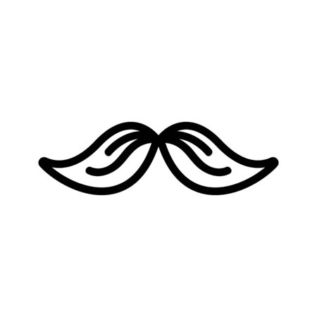 Men s mustache icon vector. A thin line sign. Isolated contour symbol illustration