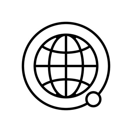 satellites land the icon vector. A thin line sign. Isolated contour symbol illustration 向量圖像
